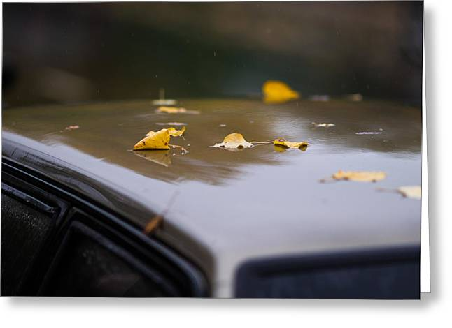 Wet Window Greeting Cards - Open Air Parking 2 - Featured 3 Greeting Card by Alexander Senin