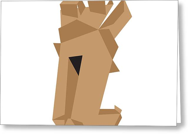 Corrugated Cardboard Greeting Cards - Open Box Greeting Card by Igor Kislev