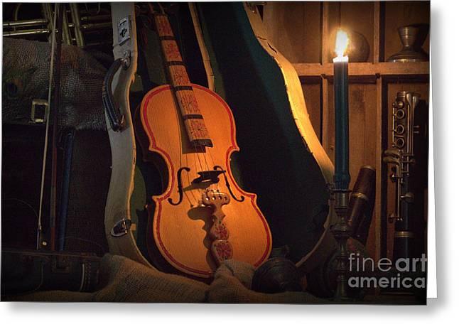 Violin Case Greeting Cards - Open Case Greeting Card by Joe Jake Pratt