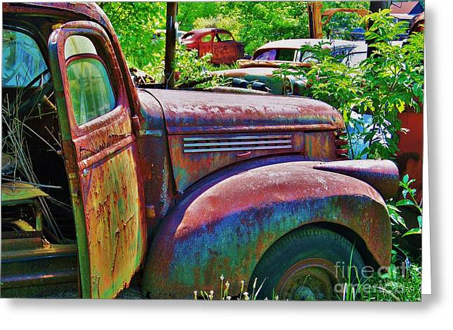 Steering Greeting Cards - Open Greeting Card by Chuck  Hicks