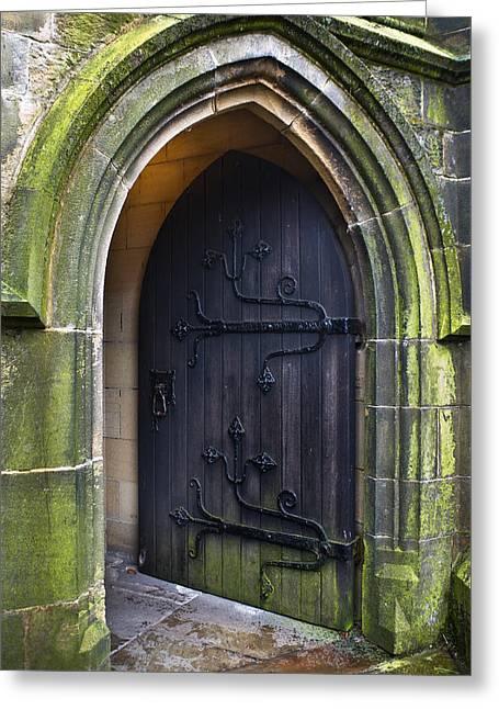 Jane Mcilroy Greeting Cards - Open Church Door Greeting Card by Jane McIlroy