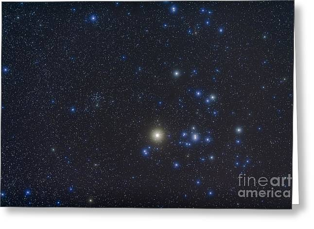 Twinkle Greeting Cards - Open Cluster Hyades And Giant Star Greeting Card by Alan Dyer
