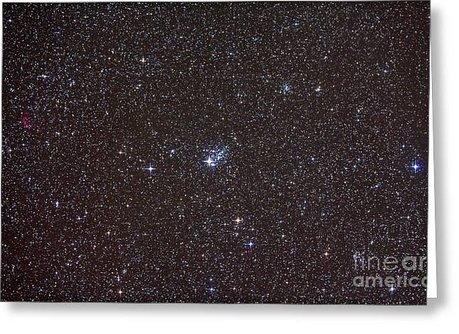 Cassiopeia Constellation Greeting Cards - Open Cluster Ngc 457 Greeting Card by Alan Dyer