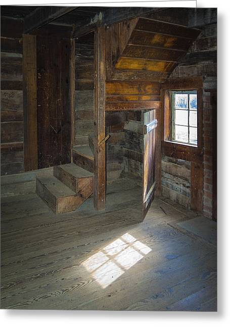 Wooden Stairs Greeting Cards - Open Door Greeting Card by Jon Stephenson