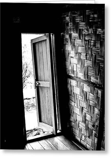Bamboo House Greeting Cards - Open Door  Greeting Card by Joshua Van Lare