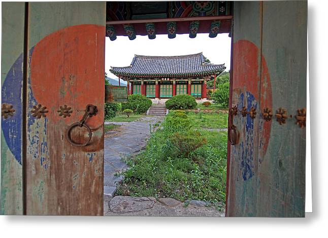 Ying Greeting Cards - Open Door to the Past Greeting Card by Tamas Virag