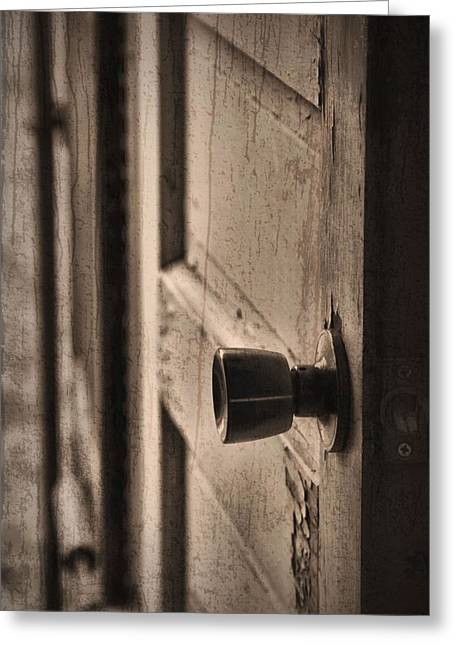 Knob Greeting Cards - Open Doors Greeting Card by Dan Sproul