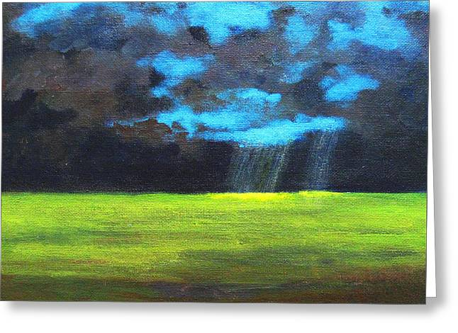 Intense Color Greeting Cards - Open Field III Greeting Card by Patricia Awapara