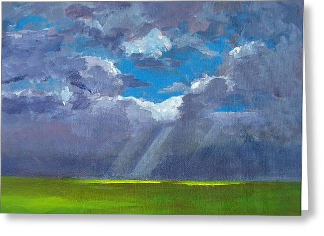 Landscape And Scenic Greeting Cards - Open Field Majestic Greeting Card by Patricia Awapara