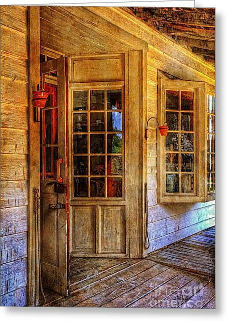 Doorway Digital Greeting Cards - Open For Business Greeting Card by Lois Bryan