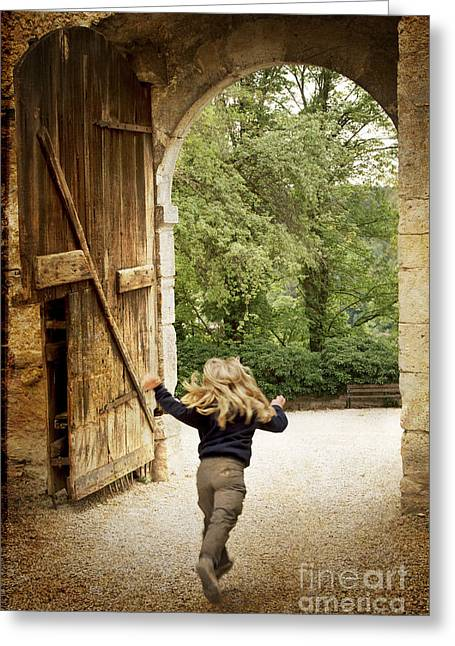 Open Gate Greeting Card by Heiko Koehrer-Wagner