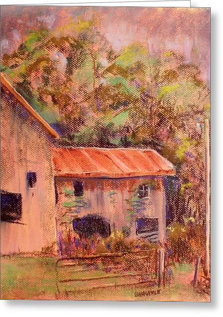 Gate Pastels Greeting Cards - Open Gate Greeting Card by Tim  Swagerle
