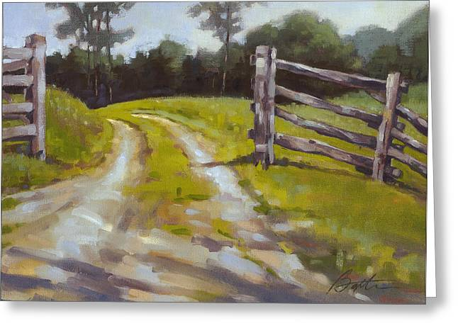 Open Gate Greeting Card by Todd Baxter