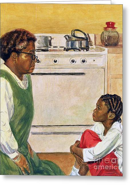 African-american Paintings Greeting Cards - Open Heart Greeting Card by Colin Bootman
