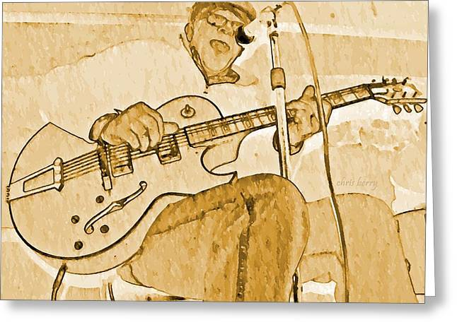 Open Jam Greeting Card by Chris Berry