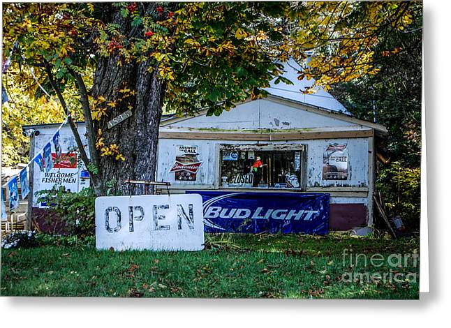 Budlight Greeting Cards - Open or Closed Greeting Card by Grace Grogan