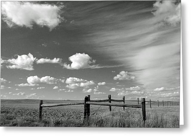Prairie Photographs Greeting Cards - Open Range Greeting Card by Don Spenner