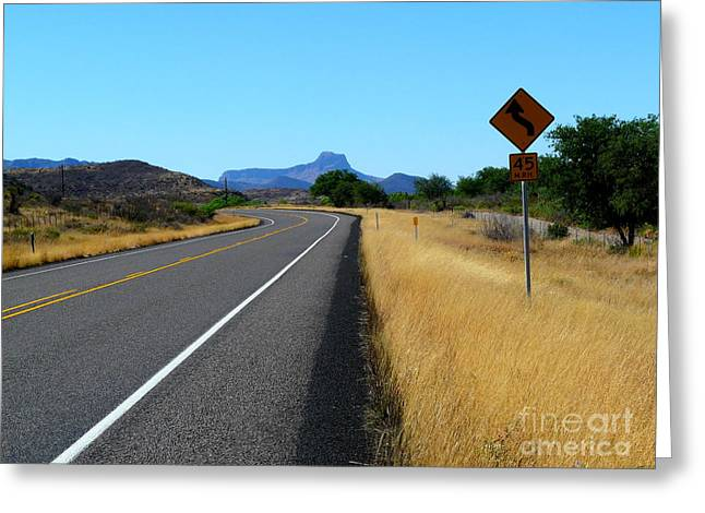 Us Open Photographs Greeting Cards - Open Road Greeting Card by Avis  Noelle