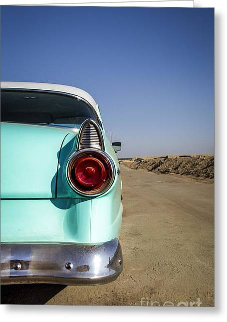 Car Framed Prints Greeting Cards - Open Road- Metal and Speed Greeting Card by Holly Martin