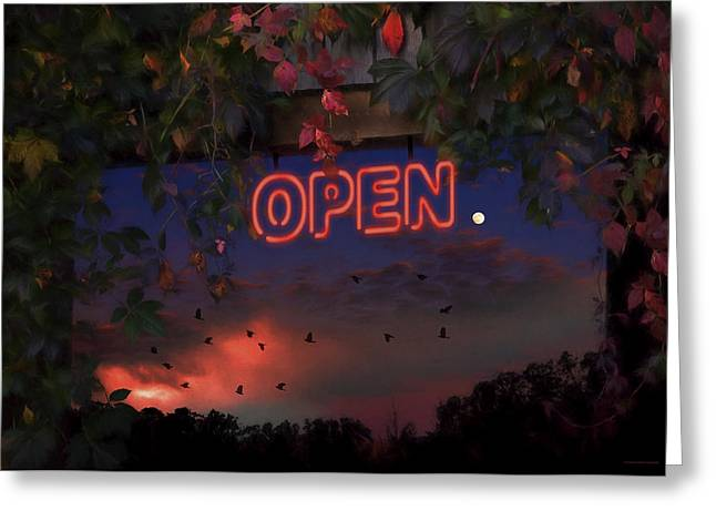 Open Greeting Card by Ron Jones