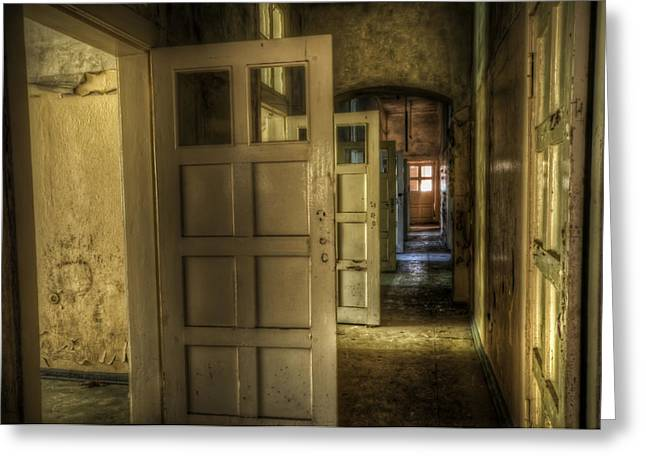 Haunted House Digital Greeting Cards - Open side Greeting Card by Nathan Wright