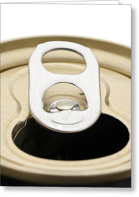 Soda Can Greeting Cards - Open Soda Can Greeting Card by Donald  Erickson