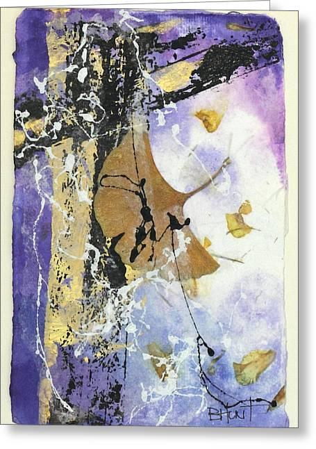 White Frame House Mixed Media Greeting Cards - Open to Light Greeting Card by Barbie Hunt