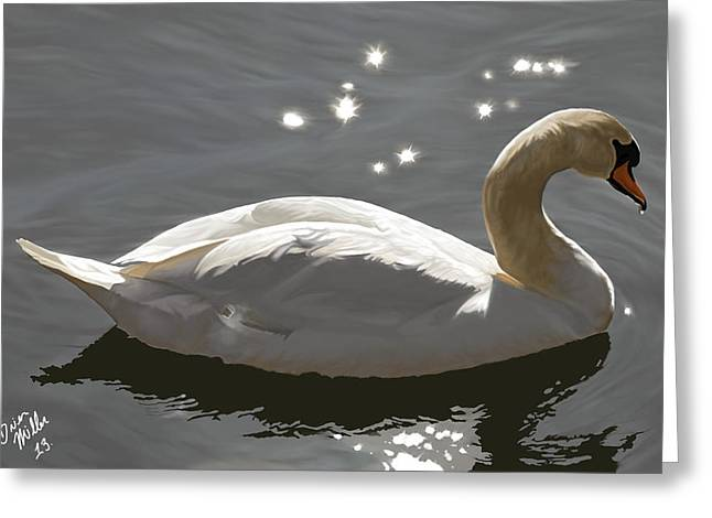 Animal Art Greeting Cards - Open Water Ahead Greeting Card by Brien Miller