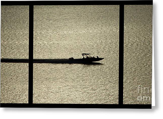 Open Waters Triptych Greeting Card by Peter Piatt