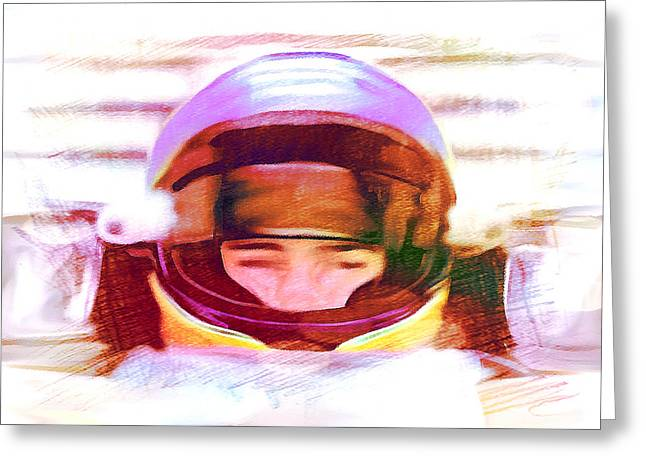 Indy Car Greeting Cards - Open Wheel Greeting Card by Dennis Buckman