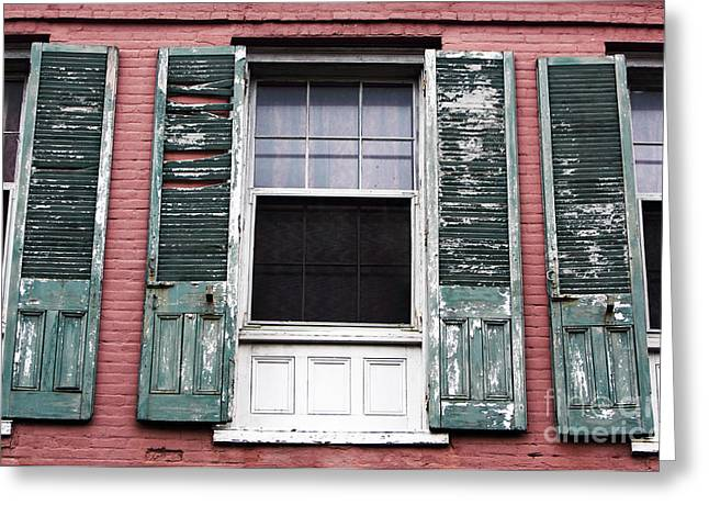 French Open Greeting Cards - Open Window Greeting Card by John Rizzuto