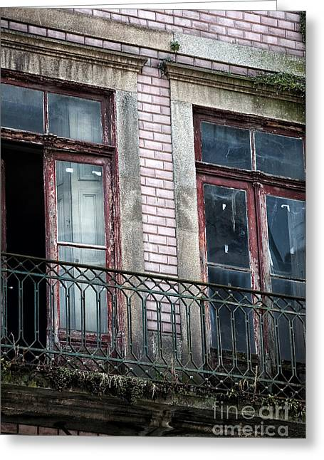 Open Place Greeting Cards - Open Window on the Balcony Greeting Card by John Rizzuto