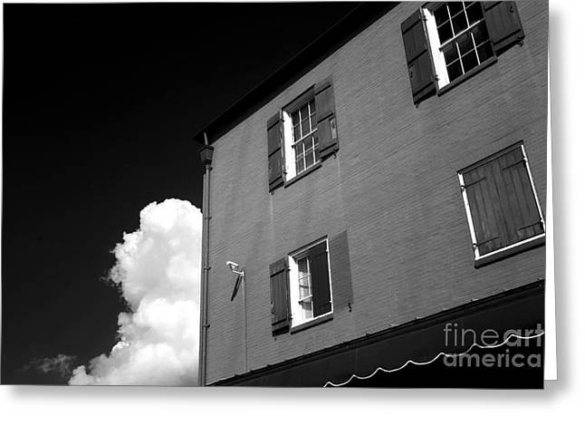 French Open Greeting Cards - Open Windows in the Quarter infrared Greeting Card by John Rizzuto