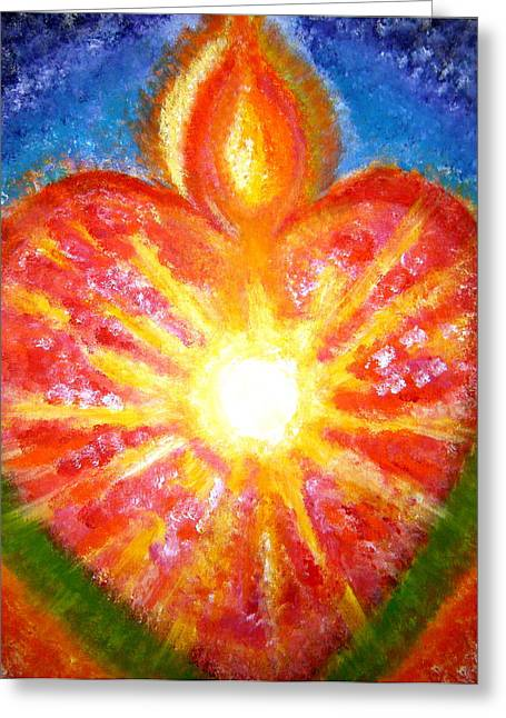 Unity Consciousness Greeting Cards - Open Your Heart to Let God Out Greeting Card by Sister Rebecca Shinas