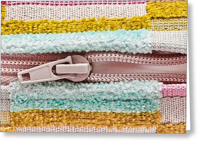 White Cloth Greeting Cards - Open zip Greeting Card by Tom Gowanlock