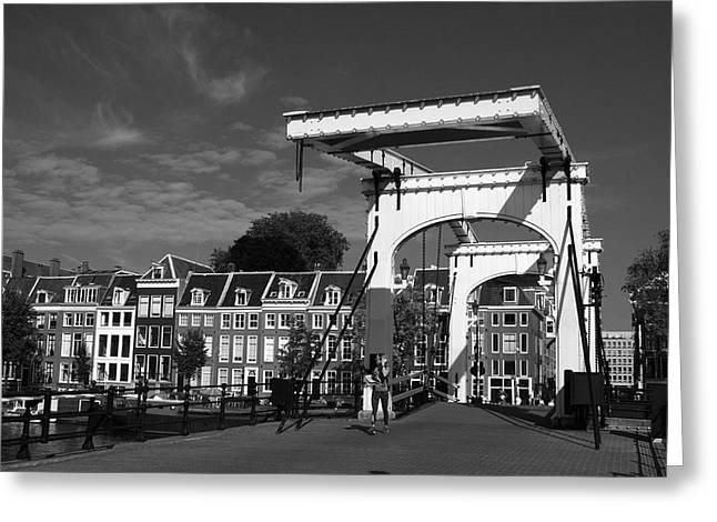 Eating Out Greeting Cards - Opening Bridge On The River Amstel Greeting Card by Aidan Moran