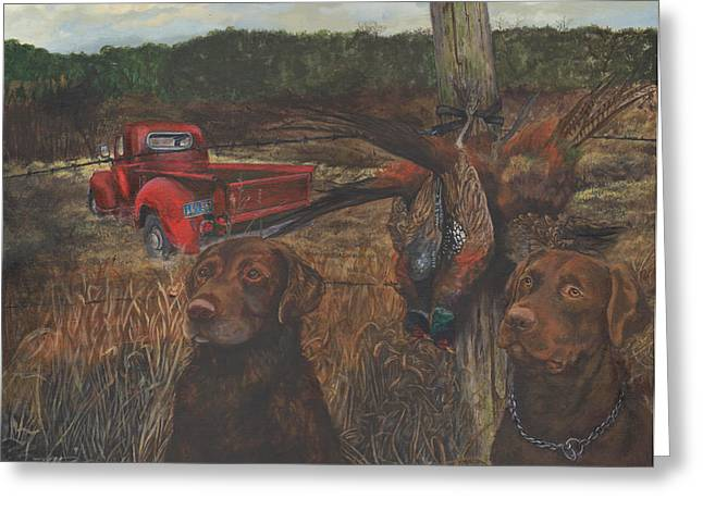 Old Labrador Greeting Cards - Opening Day Greeting Card by Kathleen Kelly Thompson