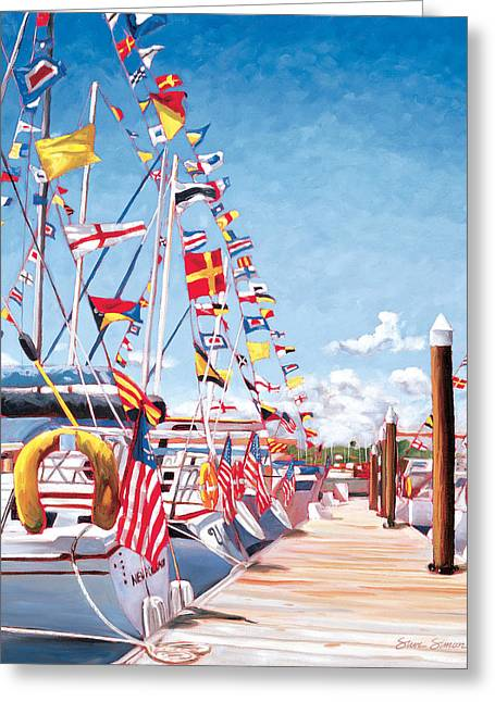 Balboa Greeting Cards - Opening Day Greeting Card by Steve Simon