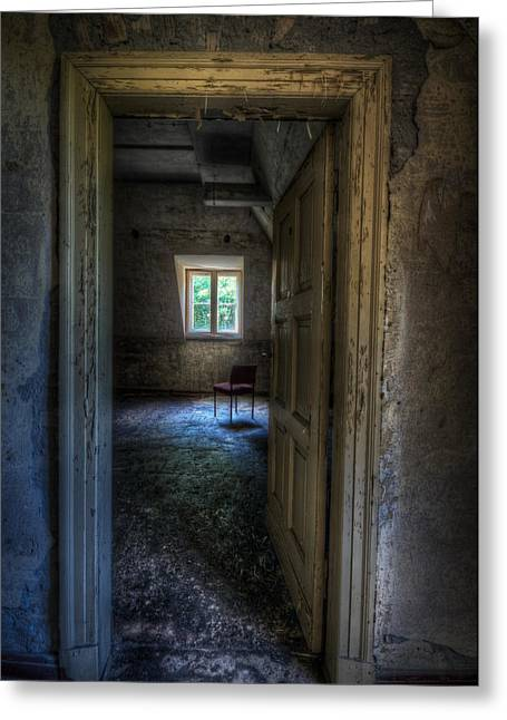 Empty Chairs Digital Greeting Cards - Opening for one Greeting Card by Nathan Wright