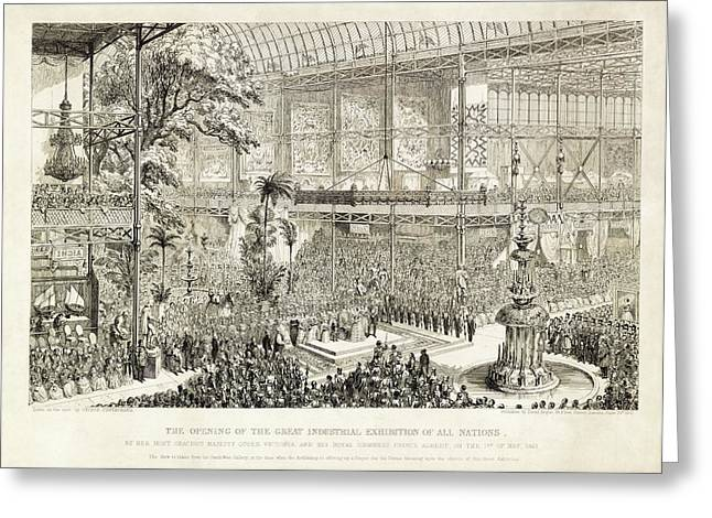 Opening Of The Great Exhibition Of 1851 Greeting Card by Library Of Congress