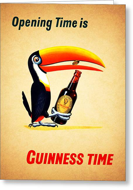 Menu Greeting Cards - Opening Time Is Guinness Time Greeting Card by Mark Rogan