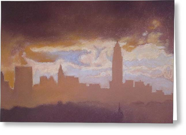 New York Pastels Greeting Cards - Opening to the City Greeting Card by Harvey Rogosin