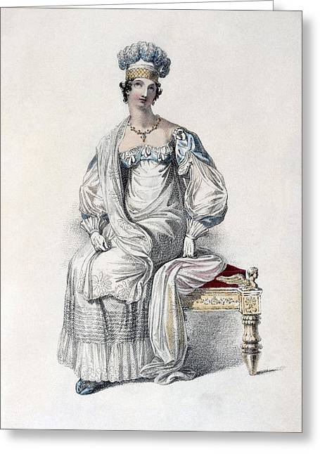 Gloves Drawings Greeting Cards - Opera Dress, Fashion Plate Greeting Card by English School
