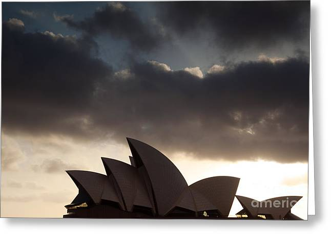 Colombos Greeting Cards - Opera house at sunrise Sydney Greeting Card by Matteo Colombo