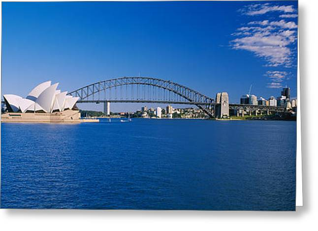Music Photography Greeting Cards - Opera House At The Waterfront, Sydney Greeting Card by Panoramic Images