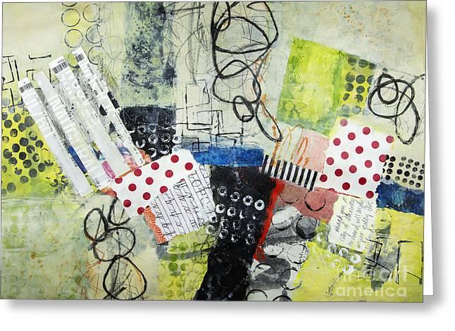 Expressive s Mixed Media Greeting Cards - Opera House Greeting Card by Elena Nosyreva