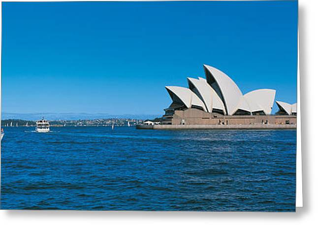 City Buildings Greeting Cards - Opera House Sydney Australia Greeting Card by Panoramic Images