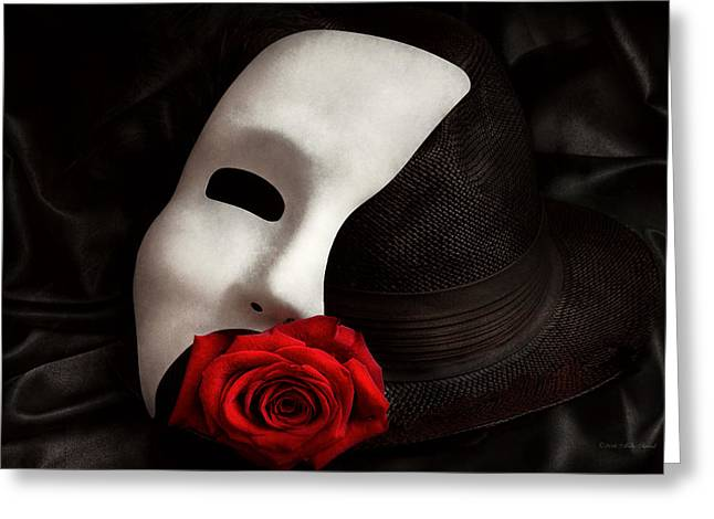 Out-dated Greeting Cards - Opera - Mystery and The opera Greeting Card by Mike Savad