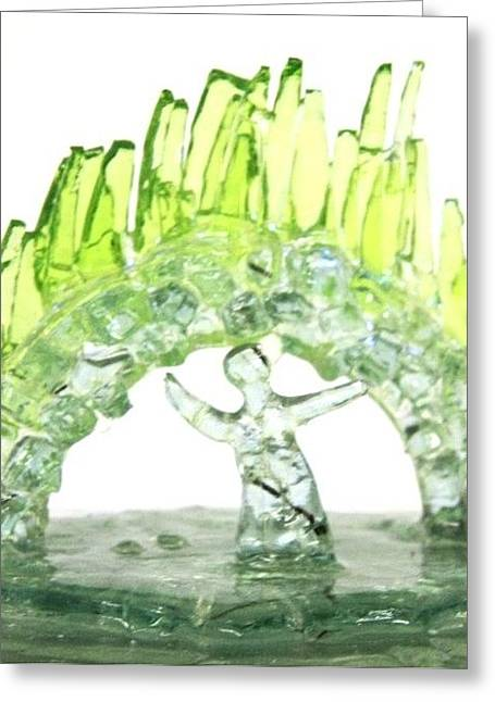 Ice Glass Greeting Cards - Opera Under the Northern Lights Greeting Card by Ellery Russell
