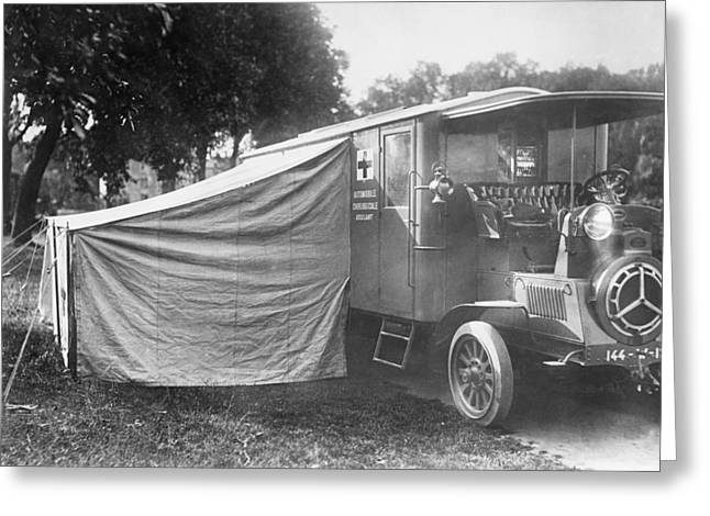 Operating Ambulance Greeting Card by Library Of Congress